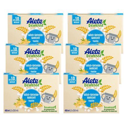 Alete Milch-Getreide-Mahlzeit Vanille 6 x 400 ml (12 x 200 ml) ab dem 10. Monat