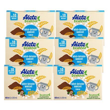 Alete Milch-Getreide-Mahlzeit Kakao 6 x 400 ml (12 x 200 ml) ab dem 10. Monat