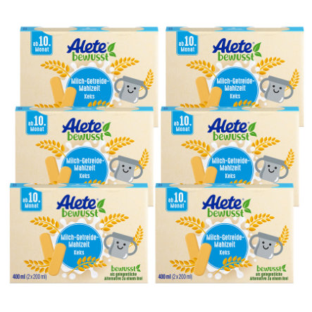 Alete Milch-Getreide-Mahlzeit Keks 6 x 400 ml ( 12 x 200ml) ab dem 10. Monat