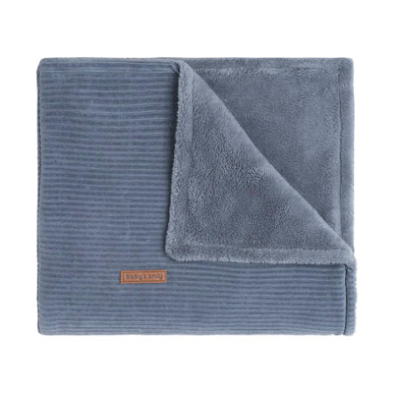 baby's only Dětská deka Teddy s podšívkou Sense vintage modrá 70x95 cm