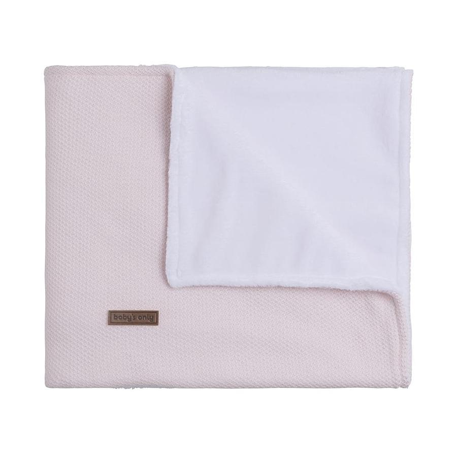 baby's only Babydecke Teddyfutter Classic klassisch rosa 70x95 cm