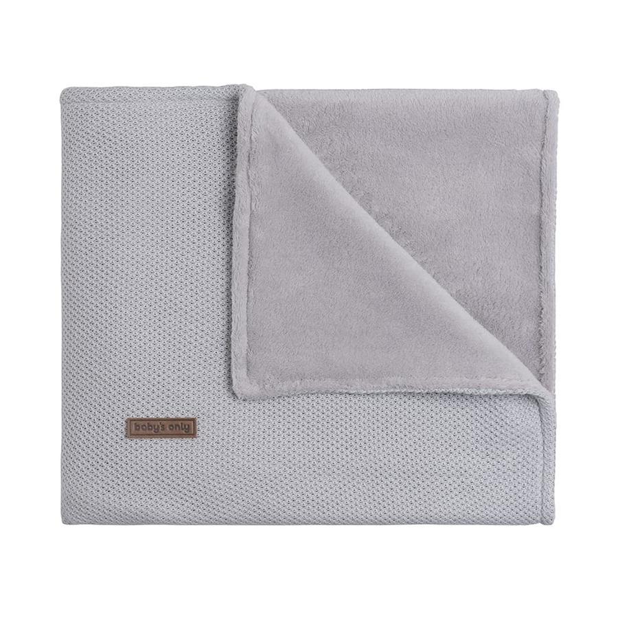 baby's only Manta de bebé forro de peluche Class ic gris plata 70x95 cm