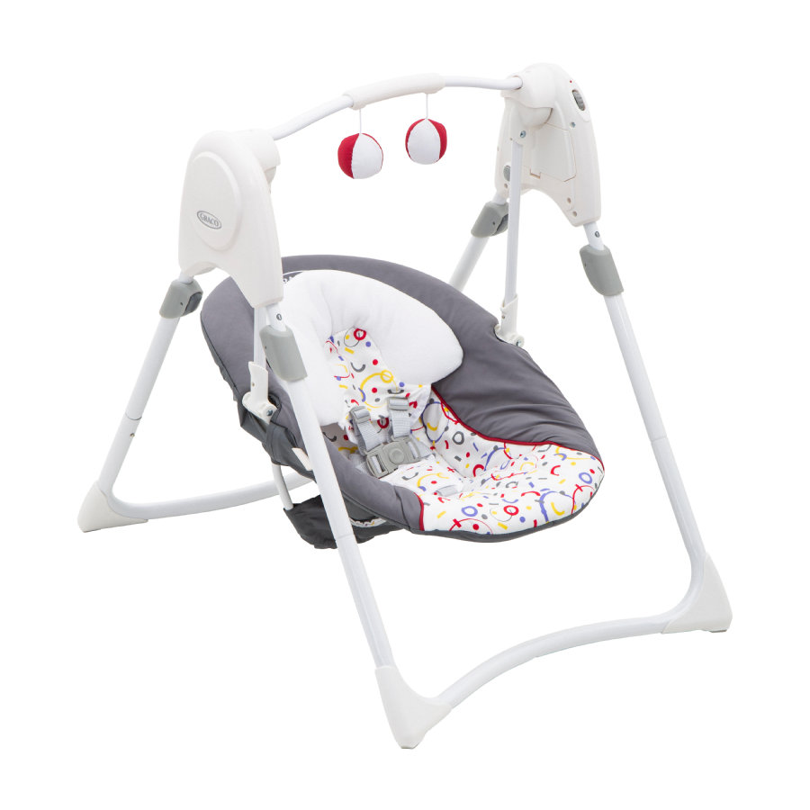 Graco ® Huśtawka dla niemowląt Slim Space s™ confetti