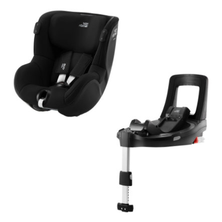 Britax Römer Kindersitz Dualfix iSENSE Space Black inklusive Flex Base iSENSE