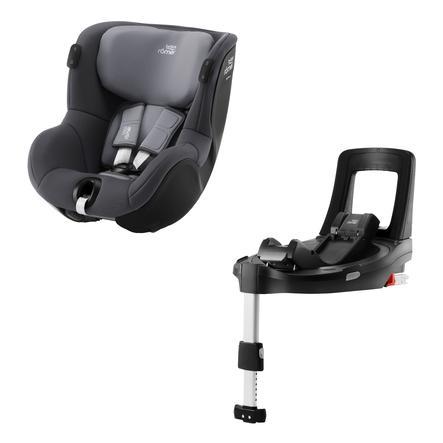 Britax Römer Kindersitz Dualfix iSENSE Midnight Grey inklusive Flex Base iSENSE