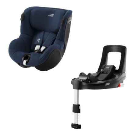 Britax Römer Kindersitz Dualfix iSENSE Indigo Blue inklusive Flex Base iSENSE