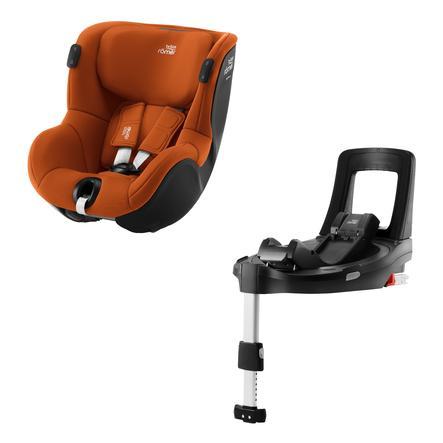 Britax Römer Kindersitz Dualfix iSENSE Golden Cognac inklusive Flex Base iSENSE
