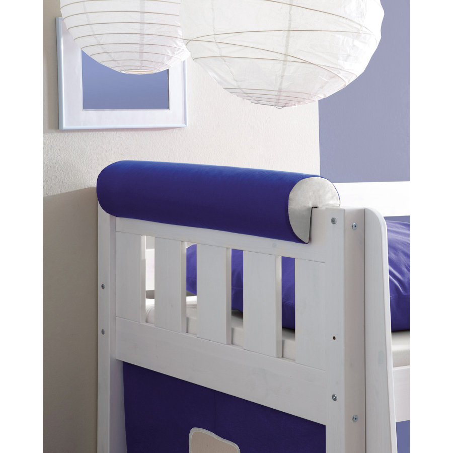 TICAA Rouleau tête de lit, bleu-blanc