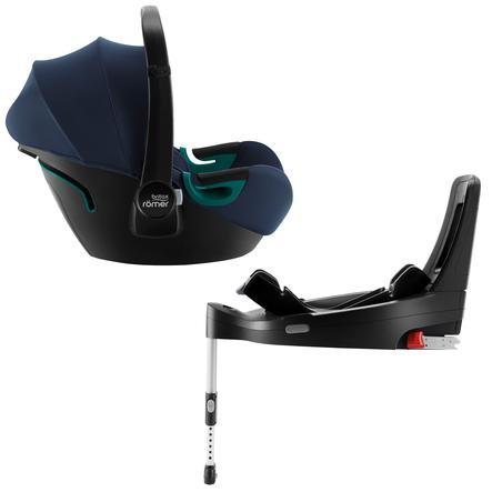 Britax Römer Babyschale Baby-Safe 3 i-Size Indigo Blue inklusive Flex Base iSENSE