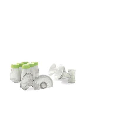 ARDO elektrische Doppelmilchpumpen-Set Calypso-To-Go weiß/grün