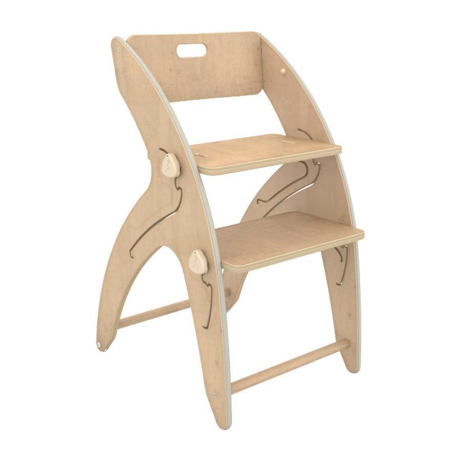 QuarttoLino ® Krzesełko Maxi + bawełniana poduszka natura