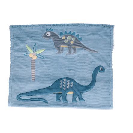 bieco Kuscheldecke gefüttert Dino blau