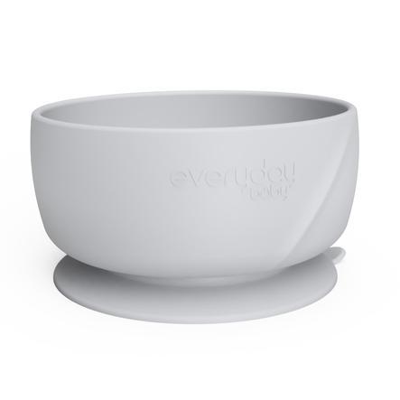 everyday Baby Silikonová miska s přísavným podstavcem, tichá šedá barva