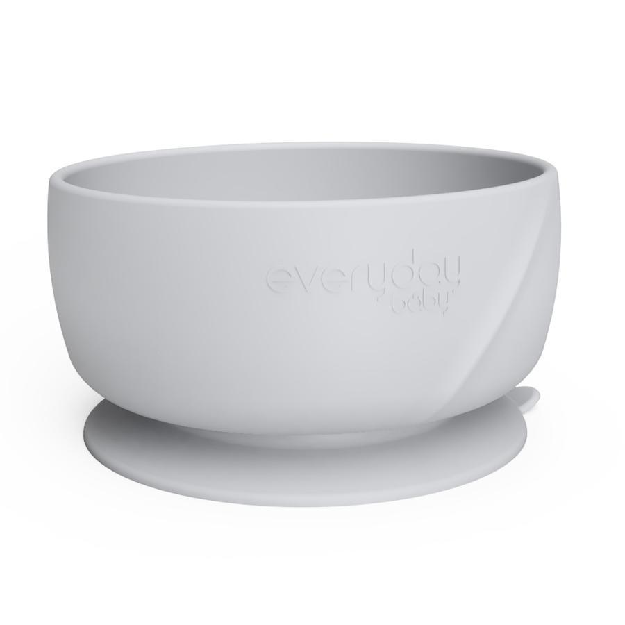everyday Baby Silikon Esslernschüssel mit Saugfuß, quiet grey