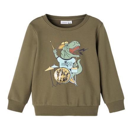 name it Sweatshirt Nmmlionel Stone Gray