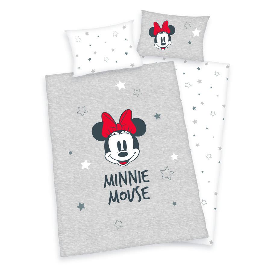 HERDING Bettwäsche Disney's Minnie Mouse hellgrau 100 x 135 cm