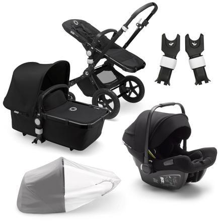 bugaboo Carro de bebé Combi Cameleon 3 Plus Complete Black / Black incluído Travel Set Black