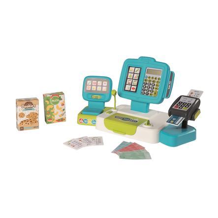 Smoby Caisse enregistreuse enfant électronique de supermarché XL, turquoise