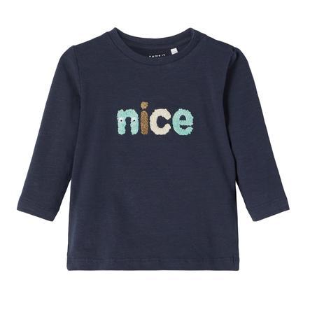 name it Lange Mouw Overhemd Nbmlennart Donker Sapphire