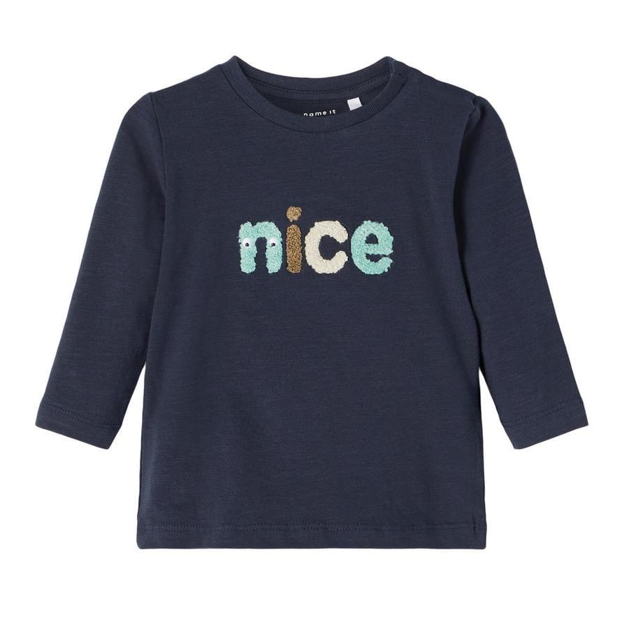 name it Pitkähihainen paita Nbmlennart Tumma Sapphire