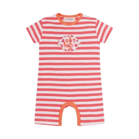 SENSE ORGANICS Girls Baby Kratasové body, YOERY coral stripes