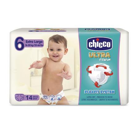 chicco Windeln Ultra- Gr. 6 Extra Large, 16-30 kg, 14 Stück