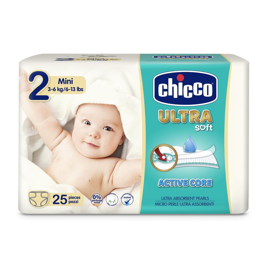 chicco Windeln Ultra- Gr. 2 Mini, 3-6 kg, 25 Stück