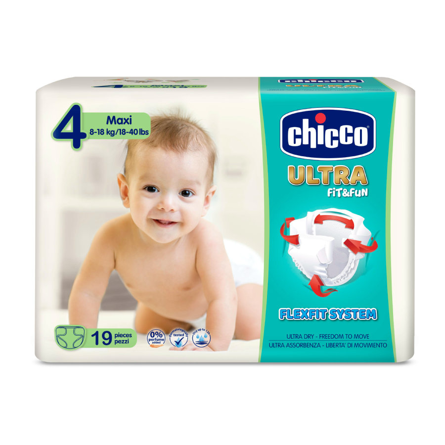 chicco Windeln Ultra- Gr. 4 Maxi, 8-18 kg, 19 Stück