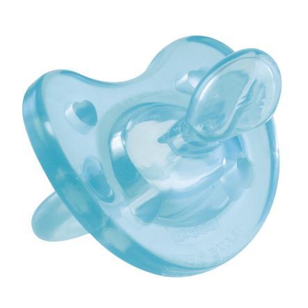 chicco Physio Soft Silikon-Beruhigungssauger in blau 6-16 Monate