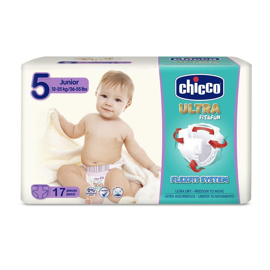 chicco Windeln Ultra- Gr. 5 Junior, 15-25 kg, 17 Stück