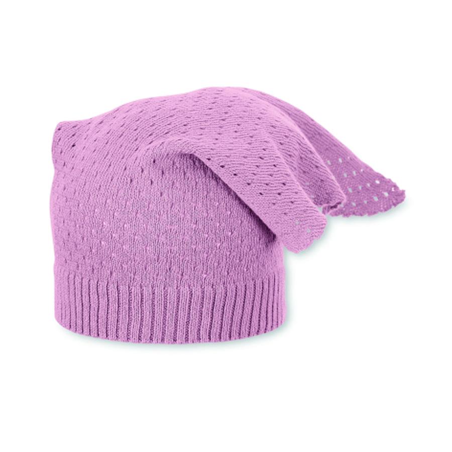 Sterntaler Strick-Kopftuch rosa