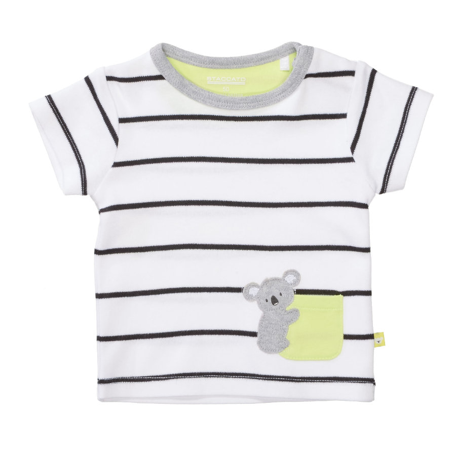 STACCATO T-Shirt hvid stribet