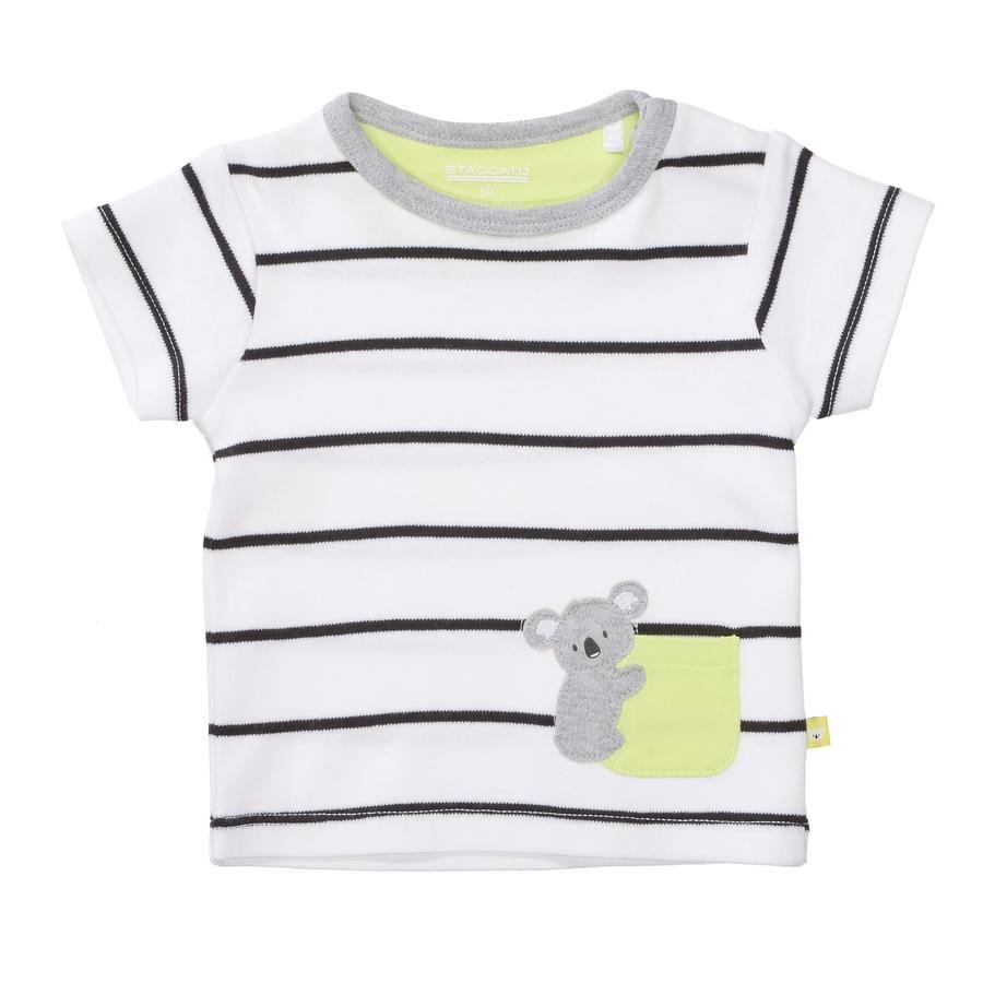 STACCATO T-Shirt weiß gestreift