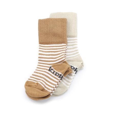 KipKep Stay-On Socken 2er-Pack Party Camel und Sand