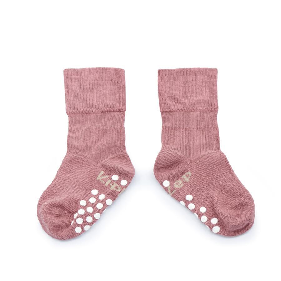 KipKep Stay-On Socken Antislip Dusty Clay 12 - 18 Monate