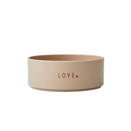 Design Letters Bol enfant mini LOVE tritane beige, 300 ml