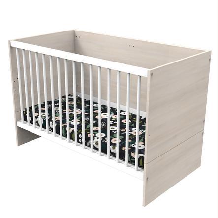 Baby Price Lit enfant à barreaux évolutif Yuzu bois 60x120 cm