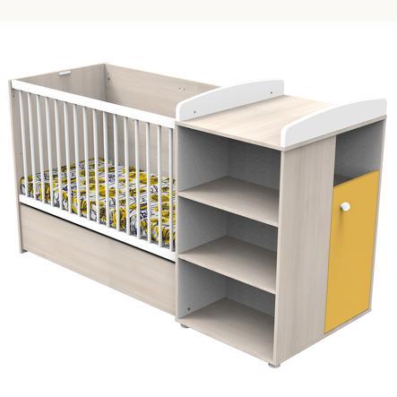 Baby Price Lit combiné évolutif Yuzu bois 60x120/90x190 cm