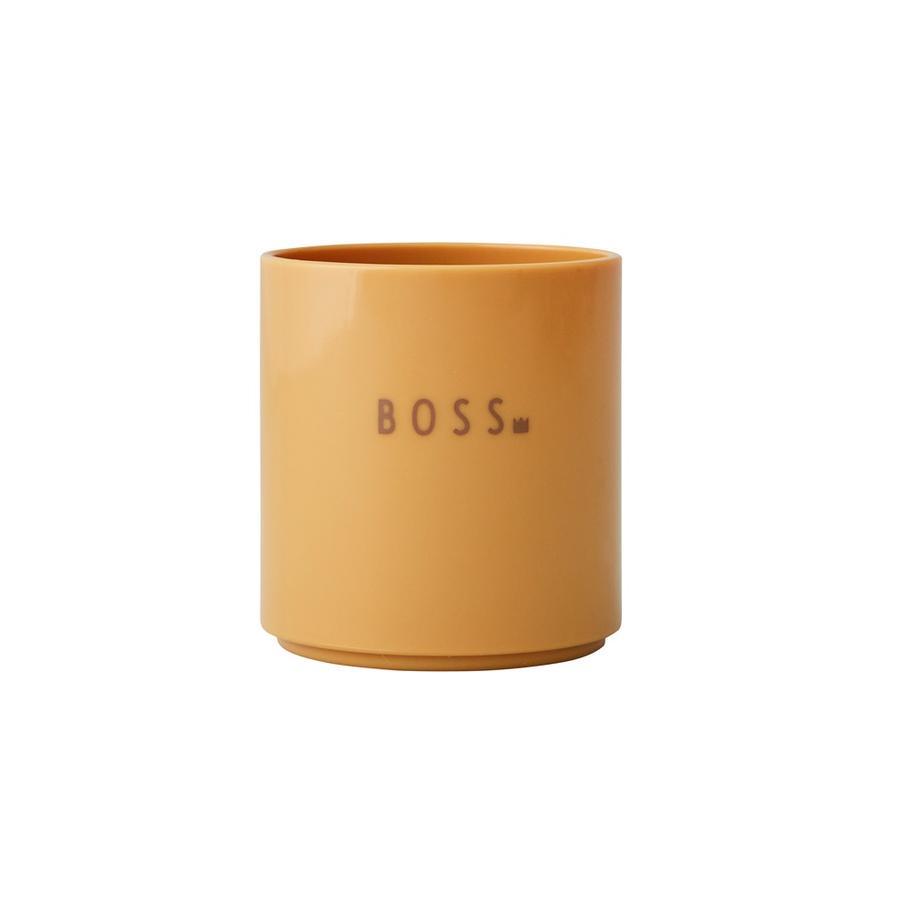 Design Letters Mini Lieblingstasse, Tritan, BOSS, senfgelb, 175 ml