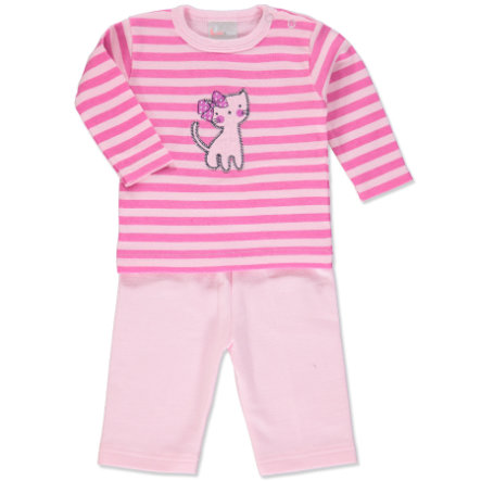 pink or blue Girls Set 2 pcs. Kitty rose and pink stripes