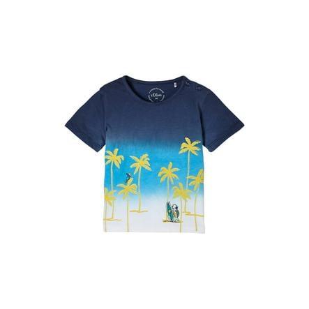 s. Olive r Camiseta azul