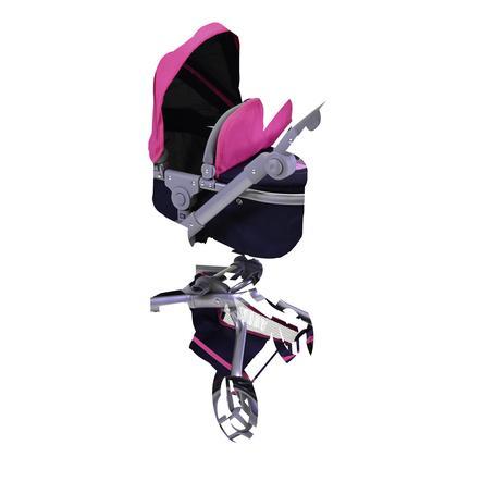 knorr® toys kočárek pro panenky Boonk flying heart s navy/pink