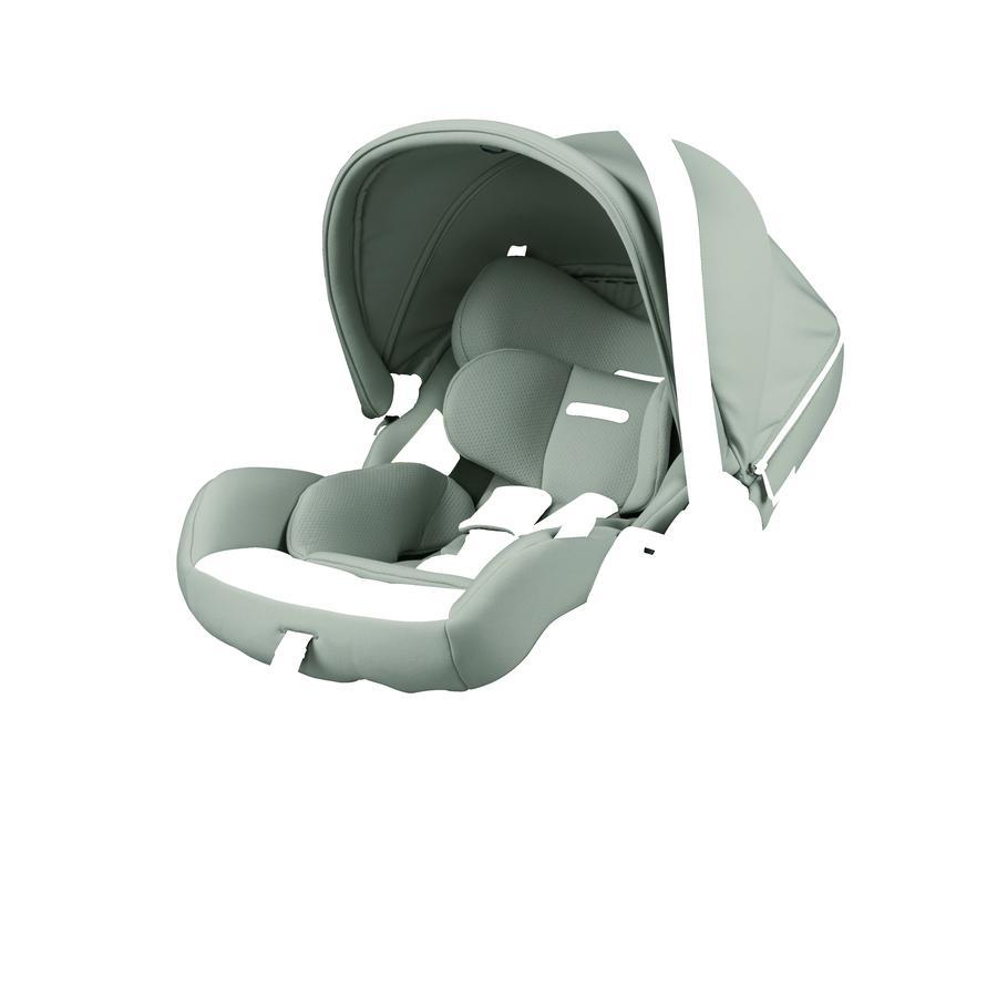 Peg Perego Baby Autostoel Primo Viaggio Lounge Moon stone inclusief i-Size Onderstel Zwart