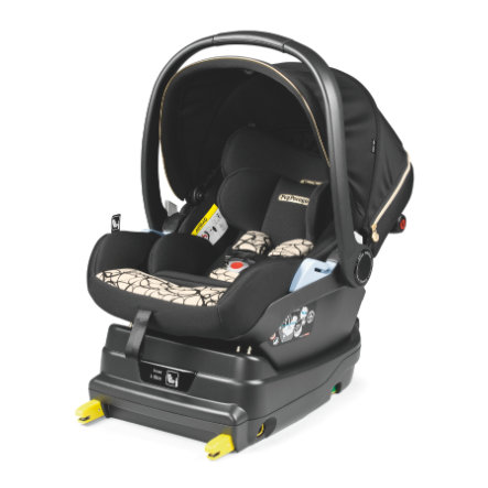 Peg Perego baby autostoel Primo Viaggio Lounge Graphic Gold inclusief i-Size basis Zwart