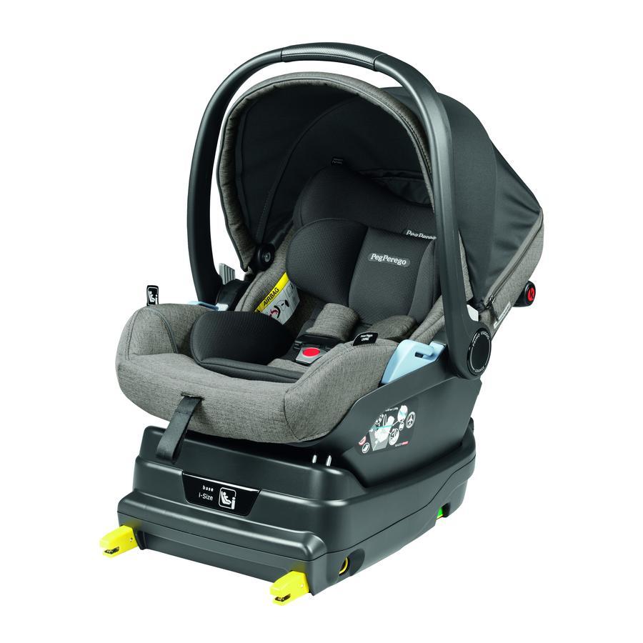 Peg Perego Baby Car Seat Primo Viaggio Lounge City Grey wraz z bazą i-Size Black