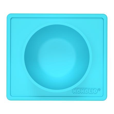 KOKOLIO Esslernschüssel Bowli aus Silikon in blau