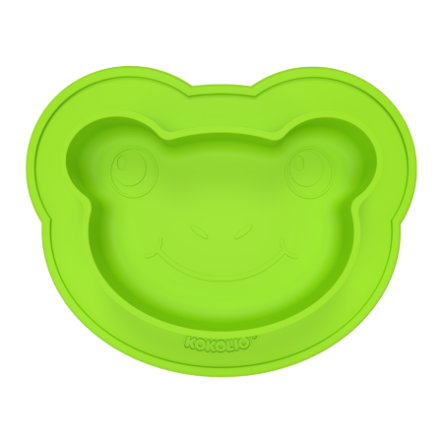KOKOLIO Esslernteller Froggi aus Silikon in grün