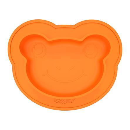 KOKOLIO Frogi siliconen eetbord in orange