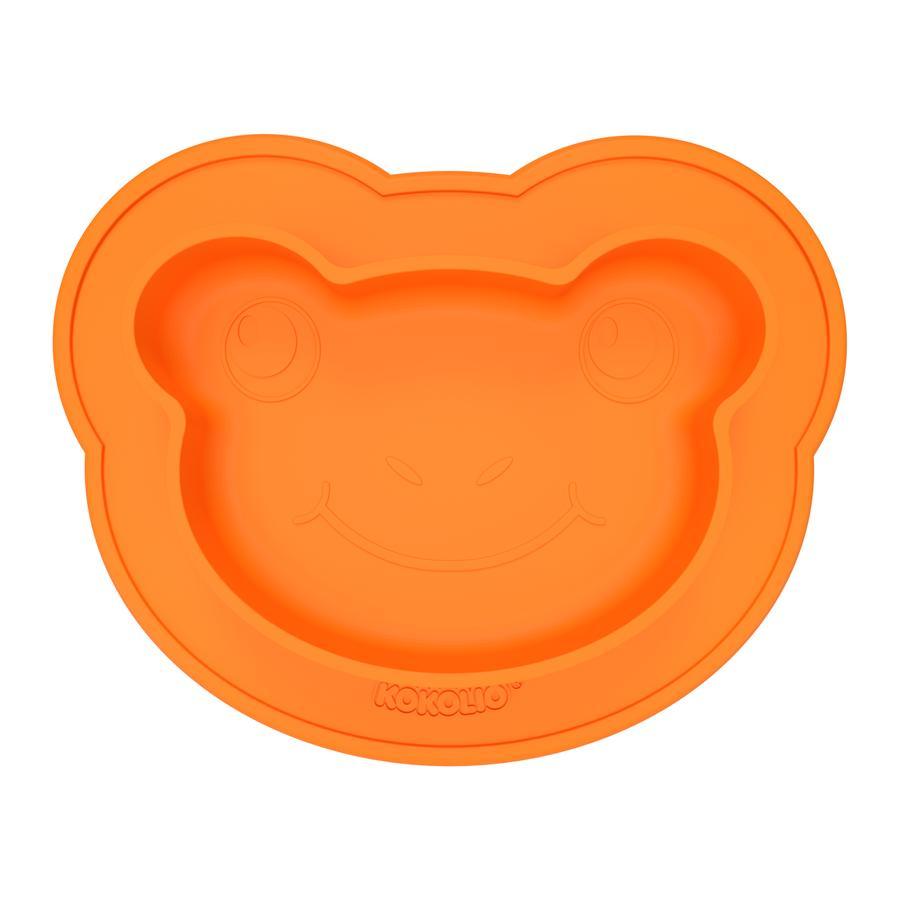 KOKOLIO Esslernteller Froggi aus Silikon in orange