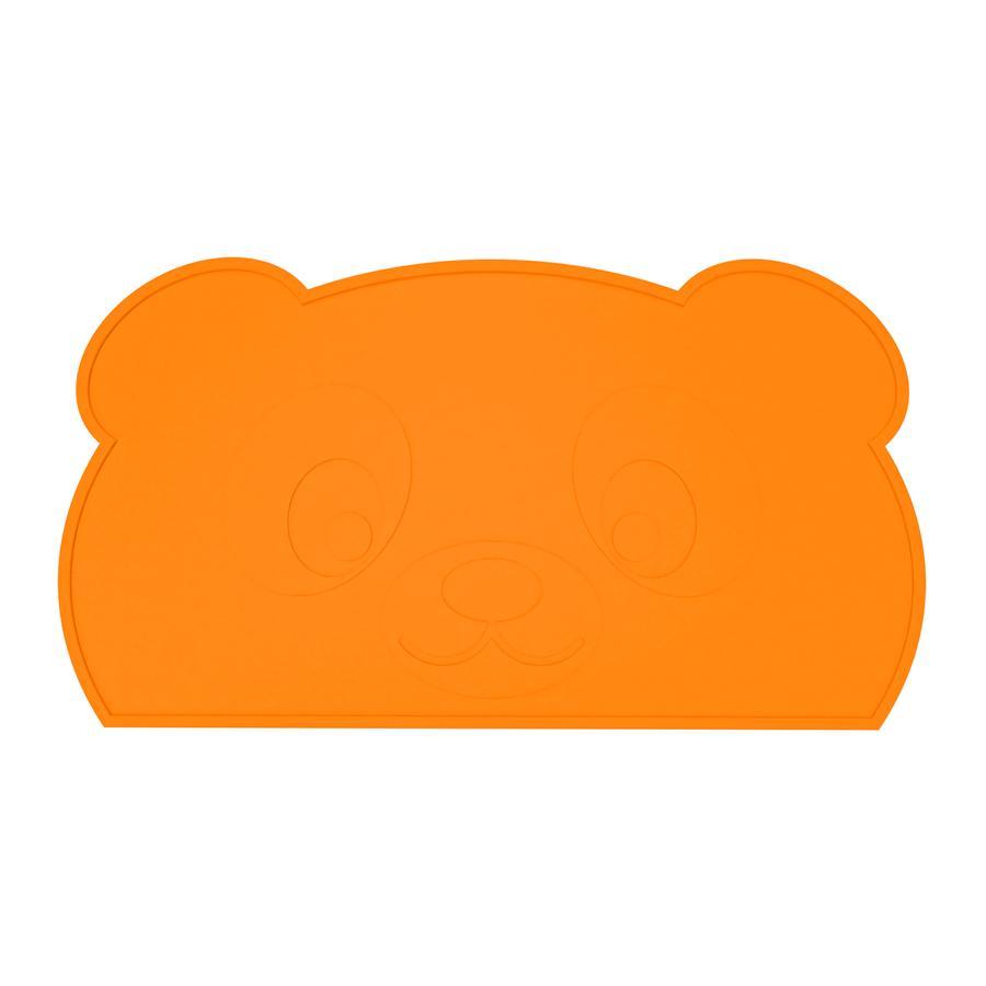 KOKOLIO Set de table Little Panda en silicone, en orange